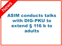 ASIM conducts talks with DIG-PKU to extend § 116b to adults.