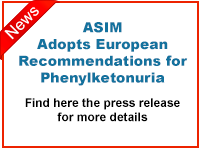 ASIM Adopts European Recommendations for Phenylketonuria. Pressrelease.