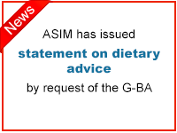 ASIM has issued statement on diatary advice by request of the G-BA